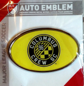 Columbus Crew Raised Metal Domed Oval Colour Chrome Auto Emblem Decal MLS Soccer Football Club