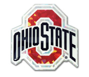 Ohio State Buckeyes Colour Reflective 3D Decal Domed Auto Sticker Emblem