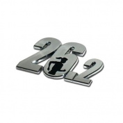 "Marathon ""70cm Premier Chrome Metal Auto Emblem - w/ Running Lady"