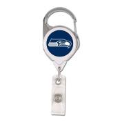 NFL Seattle Seahawks Retractable Premium Badge Holder, Team Colour, One Size