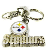 Silver Metal Pittsburgh Steelers Keychain