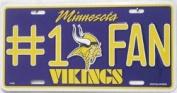 Minnesota Vikings #1 Fan Decorative Metal Licence Plate