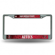 San Diego State Aztecs LBL Metal Chrome Licence Plate Tag Frame Cover University