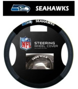 Seattle Seahawks NFL Team Logo Car Truck SUV Poly-Suede Mesh Steering Wheel Cover