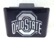 """Ohio State University Buckeyes """"Black with Chrome """"O"""" Emblem"""" NCAA College Sports Trailer Hitch Cover Fits 5.1cm Auto Car Truck Receiver"""