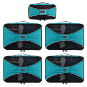 PRO Packing Cubes | 5 Piece | Organisers & Space Saver | Travel Cube Value Set
