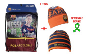 Fc Barcelona Gym Sack Bag Drawstring Backpack Cinch Bag Authentic Official Messi 10
