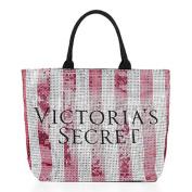 Victoria's Secret Weekender Duffle Travel Bag (Pink Bling Sequin Stripes) Black Friday