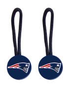 New England Patriots Zipper Pull Charm Tag Set Luggage Pet ID Nfl