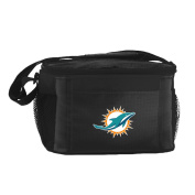 NFL Miami Dolphins Insulated Lunch Cooler Bag with Zipper Closure, Navy