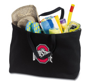 JUMBO OSU Buckeyes Tote Bag or Large Canvas Ohio State University Shopping Bag