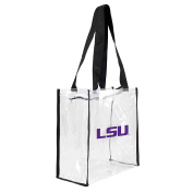 NCAA LSU Tigers Square Stadium Tote, 11.5 x 14cm x 29cm , Clear