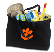 JUMBO Clemson Tigers Tote Bag or Large Canvas Clemson University Shopping Bag