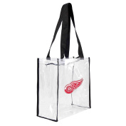 NHL Detroit Red Wings Square Stadium Tote, 11.5 x 14cm x 29cm , Clear