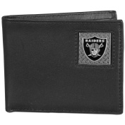 NFL Oakland Raiders Gridiron Leather Bi-Fold Wallet