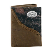 NCAA Florida Gators Camouflage Leather Trifold Concho Wallet, One Size