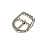 Ohio Travel Bag 1.9cm Nickel Plate Rounded Centre Bar Buckle