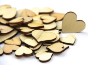 Pack of Mixed Size Natural Wood Colour Big Heart Shaped Wooden Crafting Sewing DIY Scarpbooking Buttons Approx 200pcs