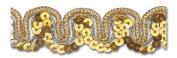 GOLD / GOLD 1.6cm SEQUIN TRIM 5 Yards
