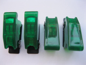 5 pcs Safety Flip Cover for Toggle Switch Transparent Green