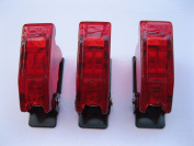 5 pcs Safety Flip Cover for Toggle Switch Transparent Red