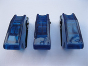 5 pcs Safety Flip Cover for Toggle Switch Transparent Blue