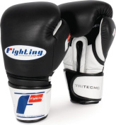 Fighting Sports Tri-Tech Bag Gloves, Black/White, 410ml by Fighting Sports