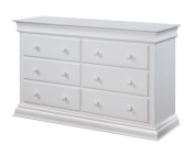 Suite Bebe Bailey 6 Drawer Double Dresser, White