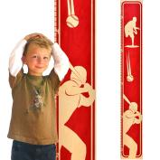 Growth Chart Art | Wooden Height Chart | Baseball Growth Chart for Boys | Sports Themed Nursery Decor | Baseball Red