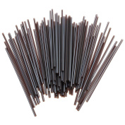 100 Pcs Black Mini Cocktail Straws Plastic Celebration Drinks Party Slim Sip Food by Crqes