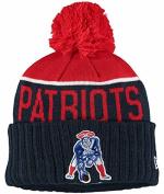 New England Patriots New Era 2015 On Field Classic Sport Pom Knit-10634