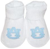 Auburn University Tigers AU Logo NCAA Licenced Solid Colour Newborn Baby Bootie Sock