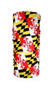 Maryland State Flag Tube Scarf - Maryland Bandana Facemask Ascot - MD