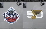 2017 NHL Winter Classic Jersey Patch & St. Louis Blues 50th Anniversary Combo
