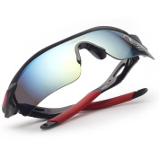 MiluoTech Polarised Sports Sunglasses for Men Women Cycling Riding Running Baseball Glasses