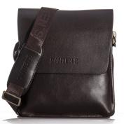 OFTEN® Men's Genuine Leather Handbag Shoulder Briefcase Business Bag iPad Mini Bag Business Bag