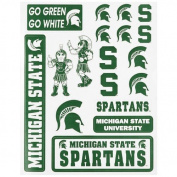 Michigan State Spartans Vinyl Cling Stickers 18 Removeable NCAA Licenced