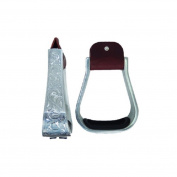 5.1cm Western Engraved Aluminium Wide Saddle Stirrups