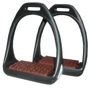 Plastic Stirrups Plastic Flexible Wide Tread Black/Brown. Compositi Reflex Stirrups