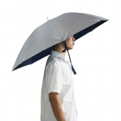 LWT Folding Umbrella Hat 90cm Diameter Headwear for Fishing Gardening, Silver