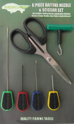 MDI Carp 6pc Baiting Tool Set with Knot Puller & Braid Scissors for Carp Fishing