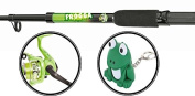 Matt Hayes Adventure (1.8m/6ft) KIDS FROGGA Fish4Fun Telescopic Rod / Matching Reel / Training Weight / Guide Book Fishing Combo - Ideal introduction set for young kids [12MH-512F]