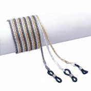 TININNA 3 Pcs Metal Sport Sunglass Holder Strap Eyewear Retainer with Rubber Grip Eyewear Cord Neck String Holder