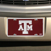 Texas A & M Aggies Maroon Metal Licence Plate