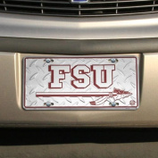NCAA Florida State Seminoles (FSU) Silver Metal Licence Plate