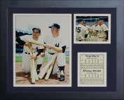 "Legends Never Die ""Yogi Berra Mickey Mantle"" Framed Photo Collage, 28cm x 36cm"
