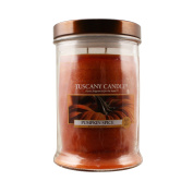 Langley Empire Candle Tuscany, Mottled, Bronze Lid, 530ml, Pumpkin Spice