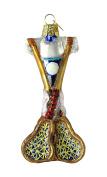 Old World Christmas Lacrosse Set Glass Blown Ornament
