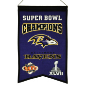 NFL Baltimore Ravens Super Bowl Champions Banner, One Size, Multicolor