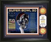NFL Denver Broncos Denver Broncos Super Bowl 50 Bronze Coin Photo Mint, Brown